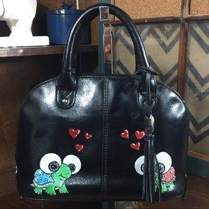 Tignanello small satchel with custom painting.